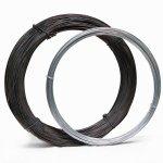 Ring aus Eisendraht schwarz geglüht und verzinkt