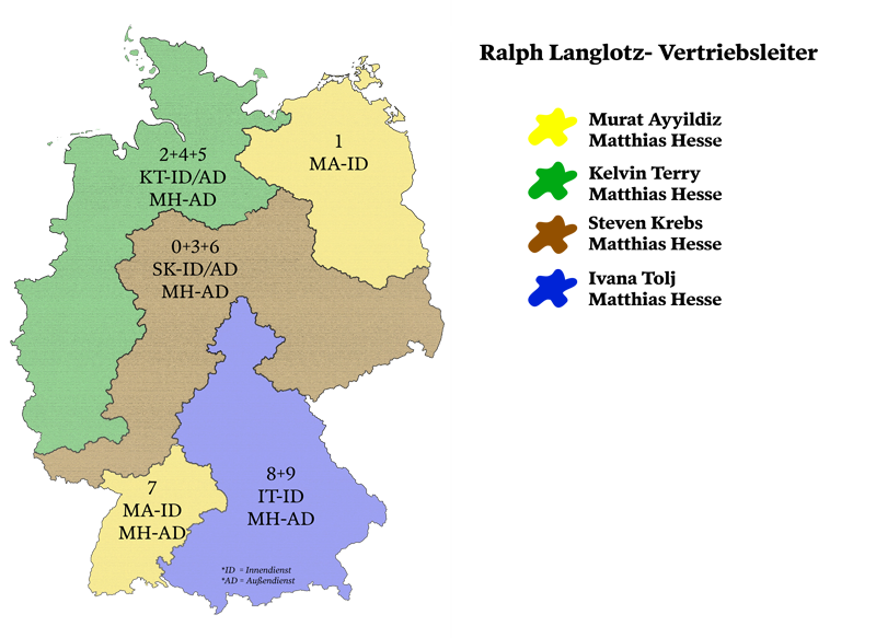 Gebietsaufteilung nach PLZ