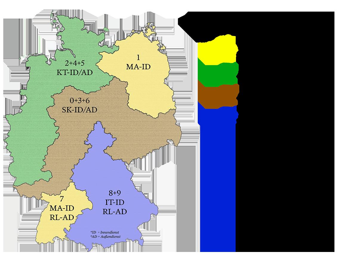 Gebietsaufteilung Deutschland